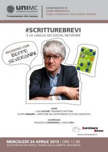 Beppe Severgnini con #scritturebrevi