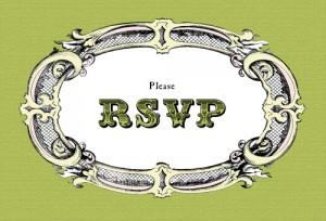 …avete ricevuto un invito? RSVP!