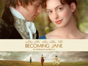 Becoming Jane con #scritturebrevi