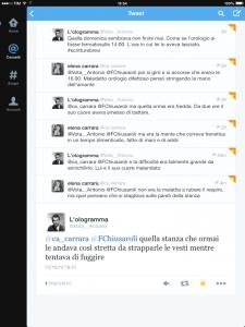 L'Ologramma & Elena Carrara (Libro delle firme e Microstorie)