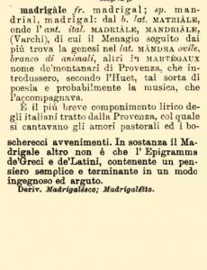 Madrigale (Generi & Specie)