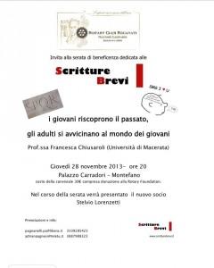 Scritture Brevi ospite del Rotary Recanati