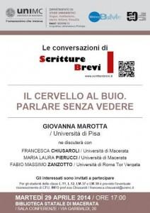 Le Conversazioni: Giovanna Marotta, Università di Pisa