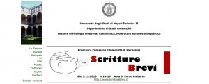 Scritture Brevi all'Università di Napoli Federico II