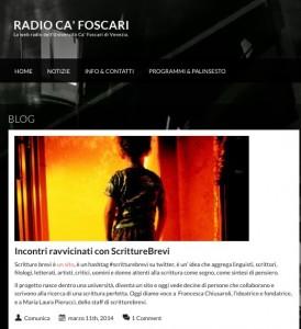 Scritture Brevi a Radio Ca' Foscari (Libro delle firme)