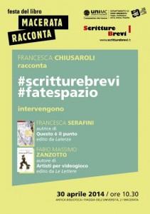 Francesca Serafini con Scritture Brevi UniMC a Macerata Racconta