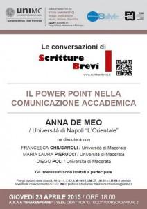 Il Power Point nella comunicazione accademica – Anna De Meo