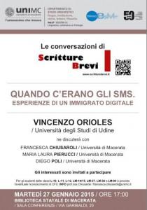 Le Conversazioni: Vincenzo Orioles, Università di Udine
