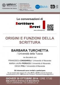 Le Conversazioni: Barbara Turchetta, Università della Tuscia