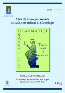 XXXIX Convegno Annuale della Società Italiana di Glottologia