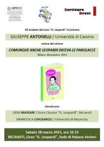 Giuseppe Antonelli con Scritture Brevi