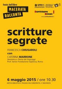 Scritture segrete con Caterina Marrone