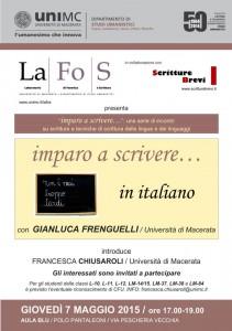Imparo a scrivere… in italiano