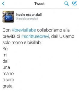 Twitta #brevisillabe