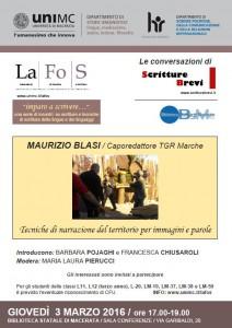 La narrazione del territorio – Maurizio Blasi