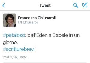 """""""Petaloso"""" dall'Eden a Babele"""