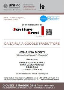 """Le Conversazioni: Johanna Monti, Università di Napoli """"L'Orientale"""""""