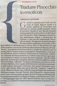 Loredana Lipperini su Pinocchio in #emojitaliano  (Libro delle Firme)