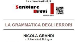 Le Conversazioni: Nicola Grandi, Università di Bologna
