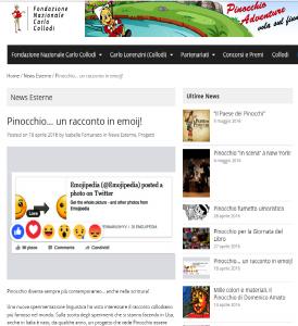 La Fondazione Collodi su Pinocchio in #emojitaliano