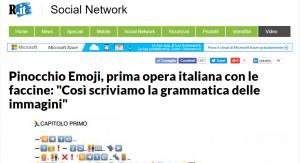Emojitaliano, il bot! Raccontato su Repubblica.it  (Libro delle Firme)