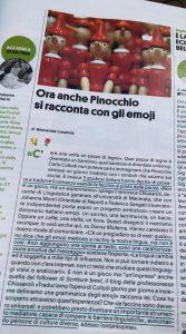 Pinocchio in emojitaliano su Donna Moderna (Libro delle Firme)