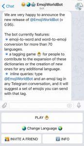 Cerca il pulcino! Con EmojiWorldBot su Telegram
