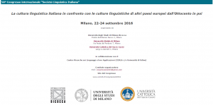 La Pasitelegrafia di G. I. Ascoli: comunicazione al Congresso SLI 2016