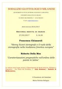 Henry Sweet stenografo – comunicazione al Sodalizio Glottologico Milanese