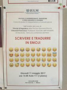 Scrivere e tradurre in emoji – Lezione all'Università IULM di Milano