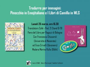 Pinocchio in Emojitaliano con Biblit a #BCBF18 Bologna Children's Book Fair 2018