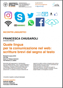 Quale lingua per la comunicazione nel web: Scritture Brevi all'Università di Udine