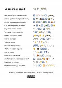 """""""La pecora e i cavalli"""" in Emojitaliano"""
