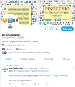 emojitalianobot è ora anche su Twitter