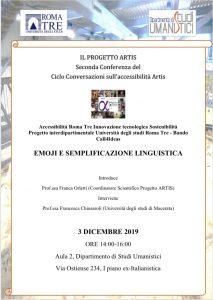 Emoji e semplificazione linguistica – Progetto ARTIS Roma Tre